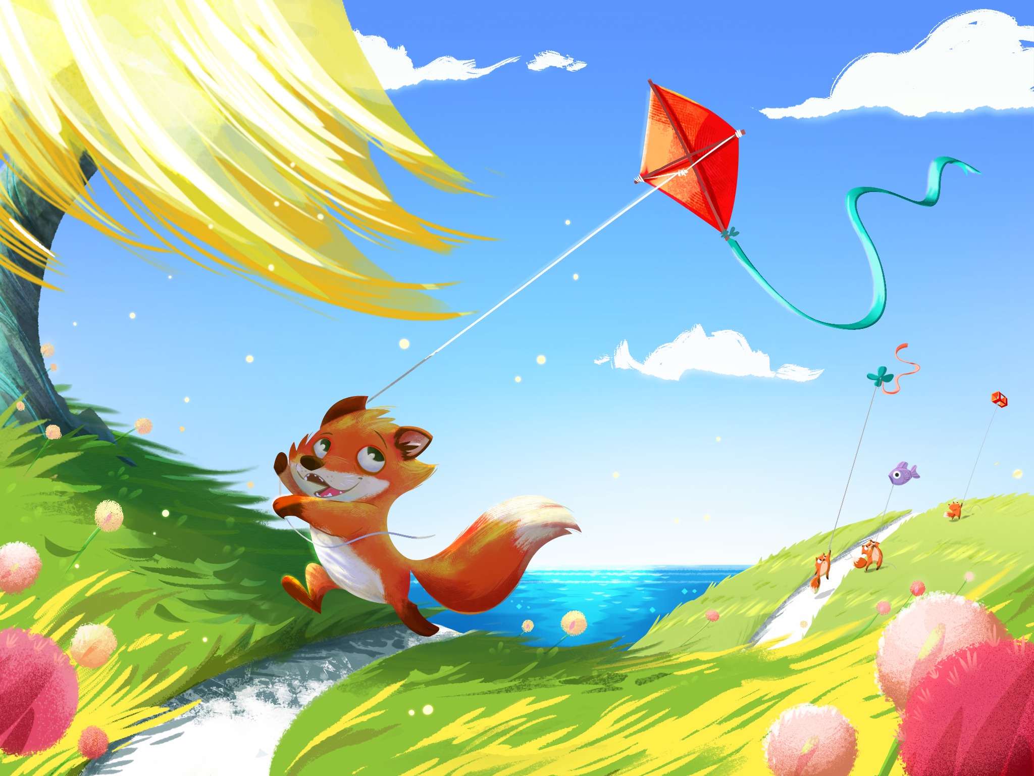 A Windy Day To Fly on Windy Days Clipart